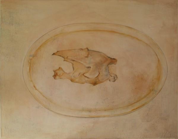 Accommoder les restes #018 -- huile sur toile, 116x90cm, 2014