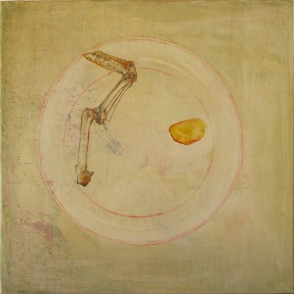Accommoder les restes #019 -- huile sur toile, 50x50cm, 2014