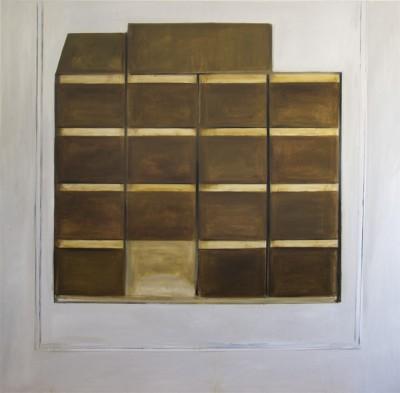 Corrections (David A.)#3 -- huile sur toile, 150x150cm, 2012