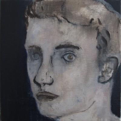Corrections (Tristant B.) -- huile sur toile, 30x30cm, 2013