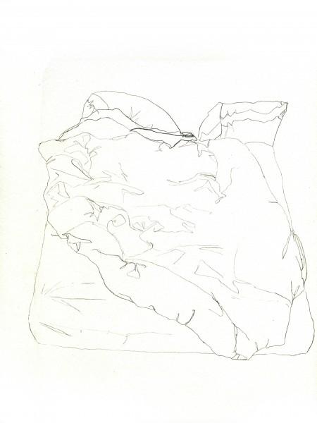 Janvier #1 — crayon sur canson, 24x32cm