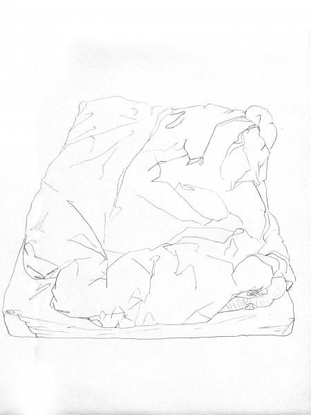 Janvier #10 — crayon sur canson, 24x32cm