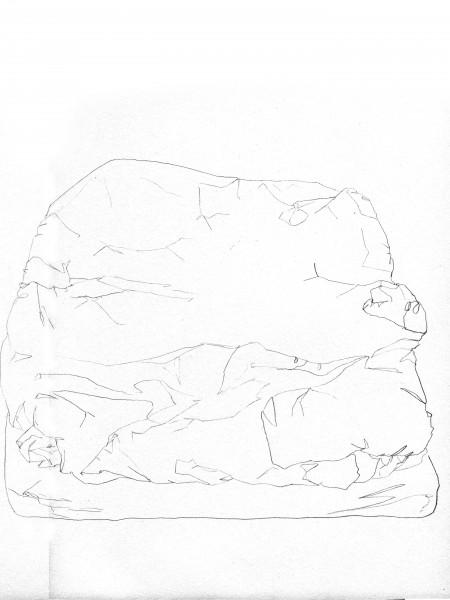 Janvier #11 — crayon sur canson, 24x32cm