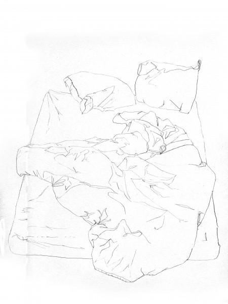 Janvier #2 — crayon sur canson, 24x32cm