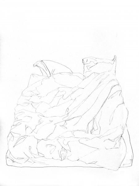 Janvier #3 — crayon sur canson, 24x32cm