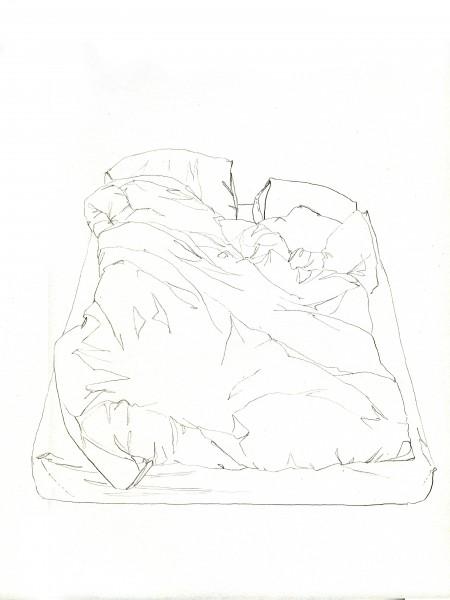 Janvier #5 — crayon sur canson, 24x32cm