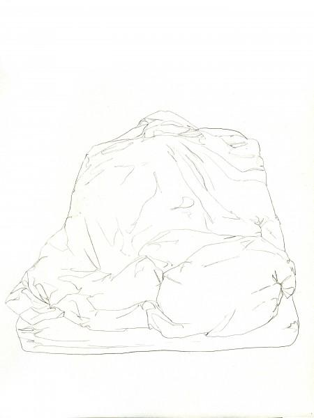 Janvier #6 — crayon sur canson, 24x32cm