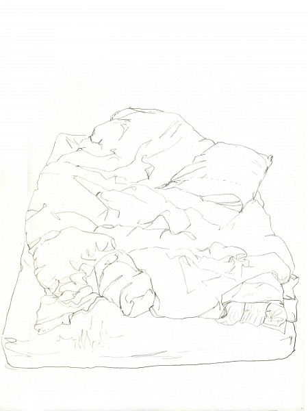 Janvier #7 — crayon sur canson, 24x32cm