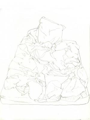 Janvier #8 — crayon sur canson, 24x32cm