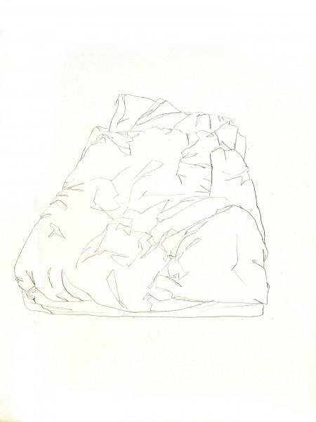Janvier #9 — crayon sur canson, 24x32cm