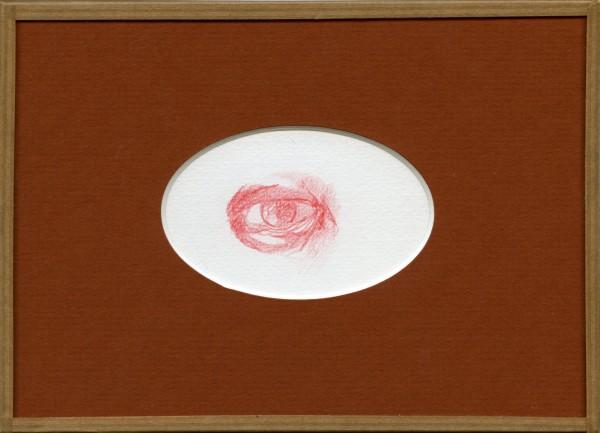 Inimitié (détail) #3, sanguine sur canson, 24x18cm, 2012
