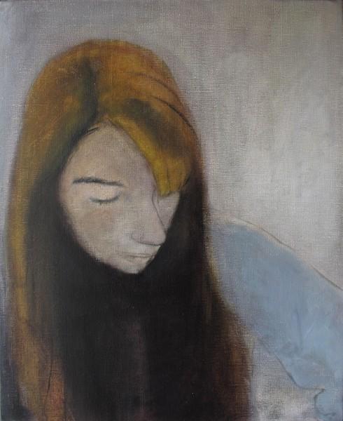 Correction (Claudia L..) -- huile sur toile, 40x50cm, 2013