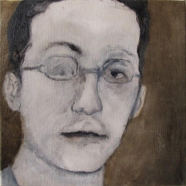 Correction (David A.) #1 -- huile sur toile, 30x30cm, 2013
