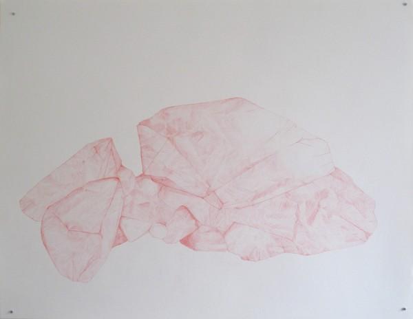 Écritures(braises) 3-2, sanguine sur canson, 50x65cm, 2013