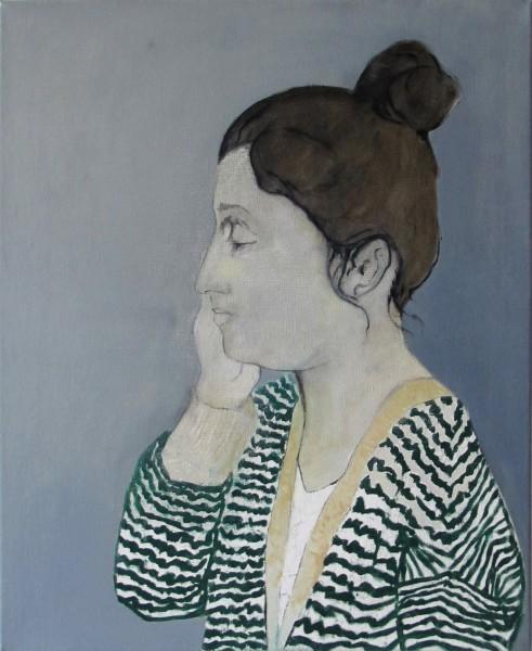 Correction (Géraldine M.) -- huile sur toile, 60x51cm, 2013