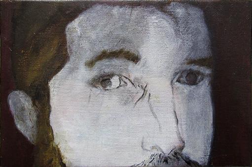 Correction (B.B.) -- huile sur toile, 12x18cm, 2014