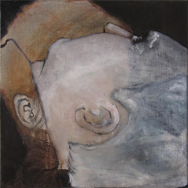 Correction (É&M) -- huile sur toile, 30x30cm, 2014