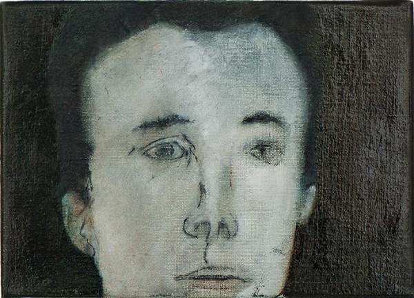 Correction (M.M.)#2 -- huile sur toile, 18x25cm, 2014