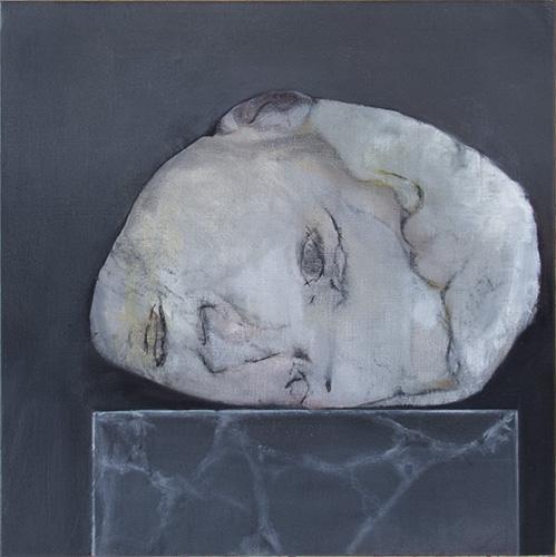 Fragment pour un double portrait #2 -- huile sur toile, 30x30cm