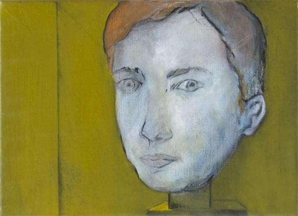 Fragment pour un portrait #1 -- huile sur toile, 30x24cm