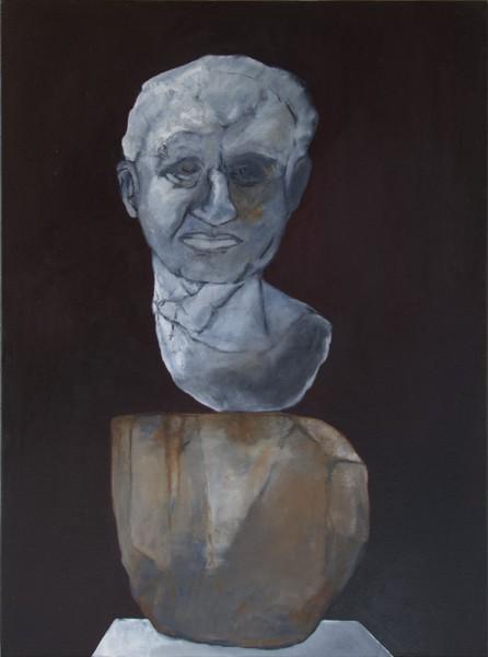 Fragment pour un portrait (J.G.) -- huile sur toile, 70x100cm