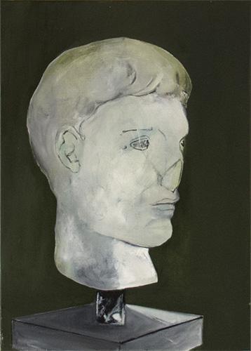 Fragment pour un portrait #4 -- huile sur toile, 30x45cm