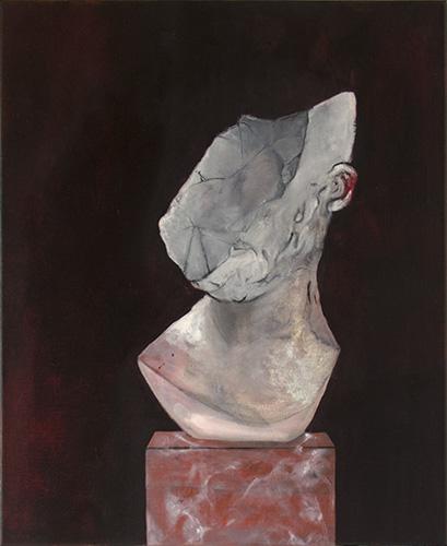 Fragment pour un portrait unconnu, huile sur toile, 50x61cm