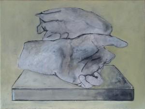 Fragment pour un portrait #2 -- huile sur toile, 40x30cm