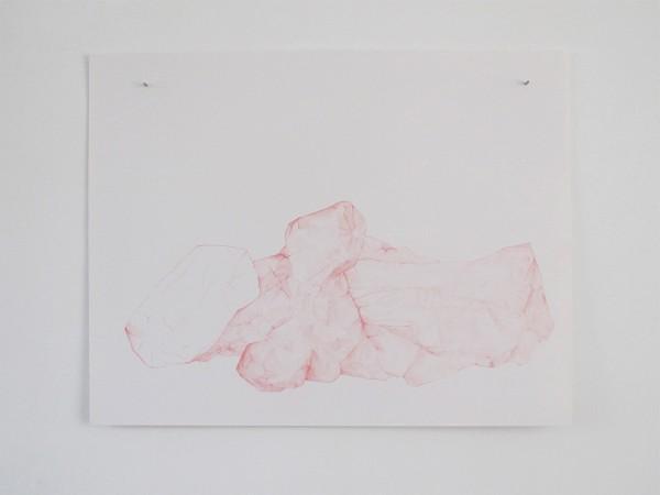 Écritures(braises) 3-3, sanguine sur canson, 50x65cm, 2013