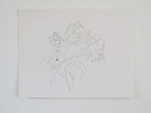 Frondaison #011 50x65, encre de chine sur papier canson.