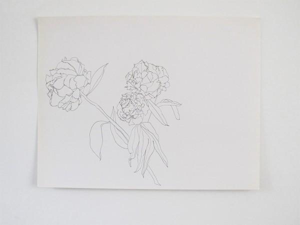 Frondaison #03 50x65, encre de chine sur papier canson.