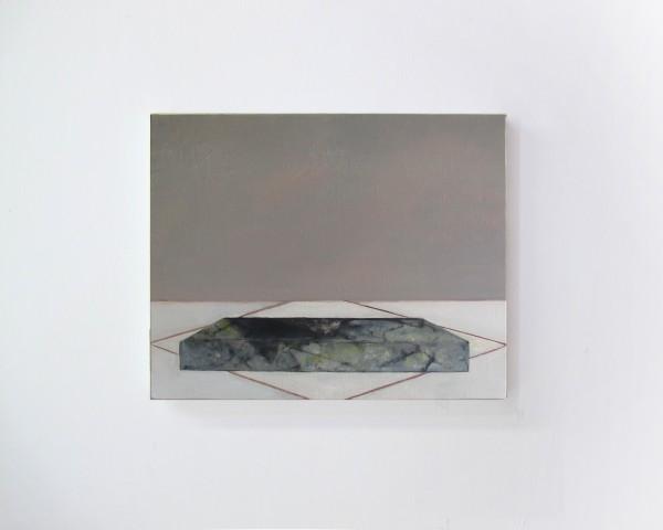 La Chambre des cartes#3, huile sur toi, 30x40cm, 2017